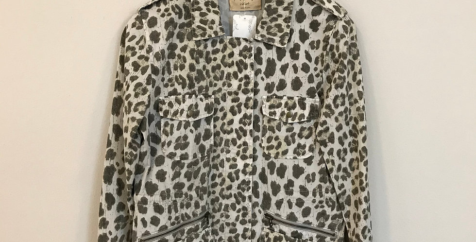 Lily Aldridge for Velvet Leopard Jacket, Size S