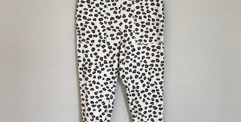 Saltwater Luxe Leopard Print Joggers, Size S