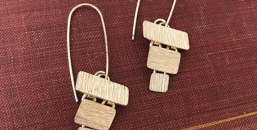 Etched Drop Earrings