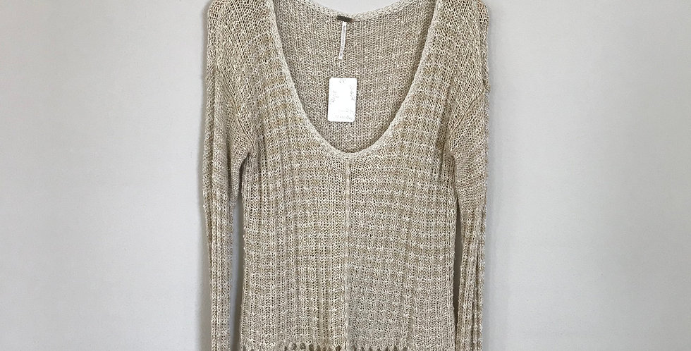 Free People Loose Knit Sweater, Size L