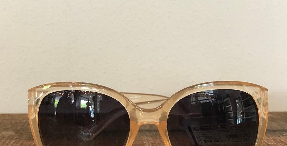 Clear Peach Frame Sunglasses