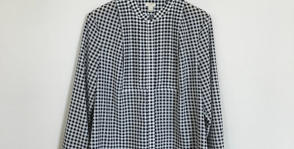 J. Crew Factory Gingham Top, Size L