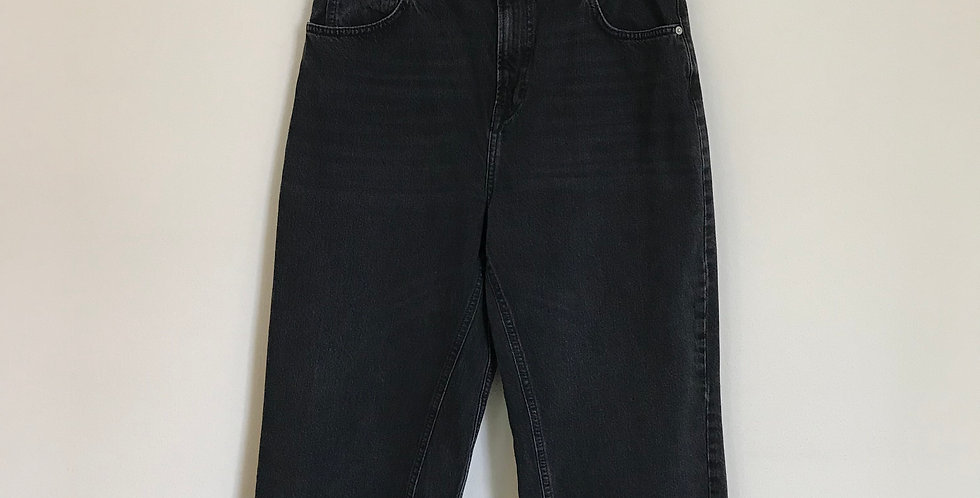 Topshop Wide Leg Denim Crops, Size 12/14