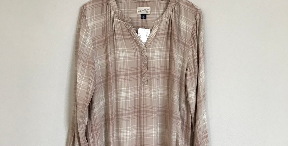 Universal Threads Plaid Top, Size XL