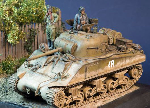 Sherman in 48th scale