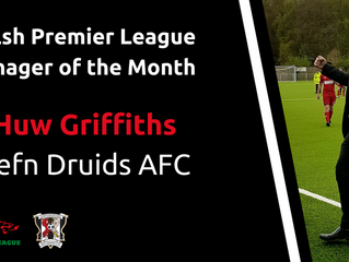 Huw Griffiths named WPL Manager of the Month.