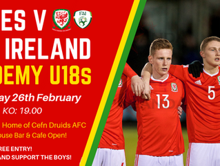 The Rock to host Wales U18s