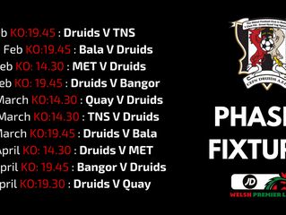 PHASE 2 FIXTURES ANNOUNCED!