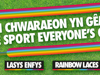 Welsh football to support Rainbow Laces campaign.