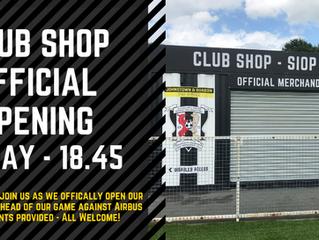 CLUB SHOP OPENS FRIDAY!