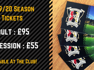 2019/20 Season Tickets On Sale!