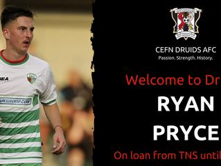 Ryan Pryce joins Druids on loan