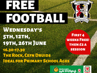 FREE FOOTBALL SESSIONS IN JUNE!