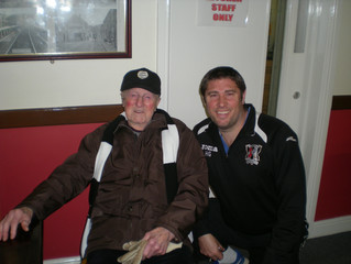 Former Druids player visits The Rock