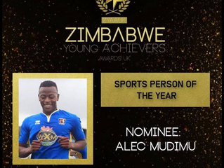 Mudimu Shortlisted for 'Sports Person Of The Year' for Zimbabwe!