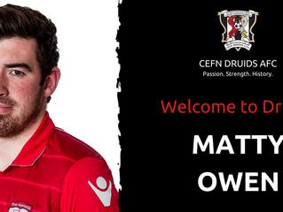 Matty Owen returns to The Rock