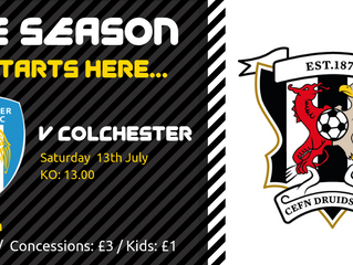 THIS SATURDAY : Druids V Colchester