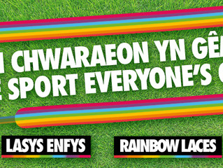 CEFN DRUIDS AFC TAKES PART IN STONEWALL'S RAINBOW LACES CAMPAIGN