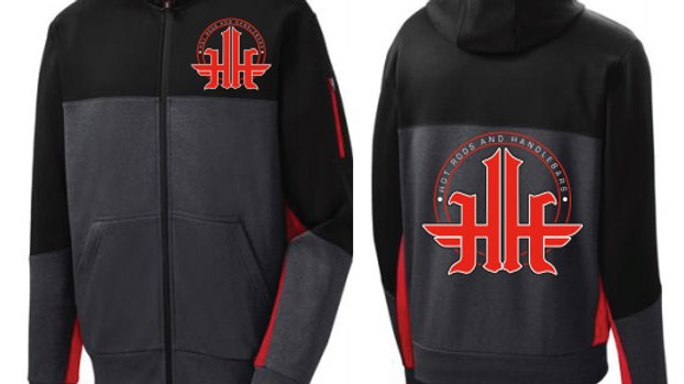 Hot Rods and Handlebars Embroidered Zip Up