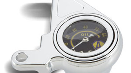 Radius Oil Pressure Gauge Kits - Chrome