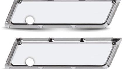 Beveled Saddlebag Latch Cover - Chrome