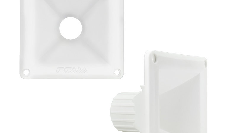 """WG11-25 WHITE 1"""" EXIT WAVEGUIDE"""