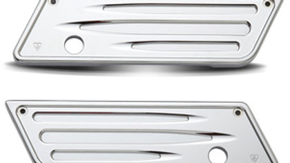 Deep Cut Saddlebag Latch Cover - Chrome