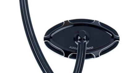 Beveled Cat Eye Forged Billet Mirror - Hanger Stem Black