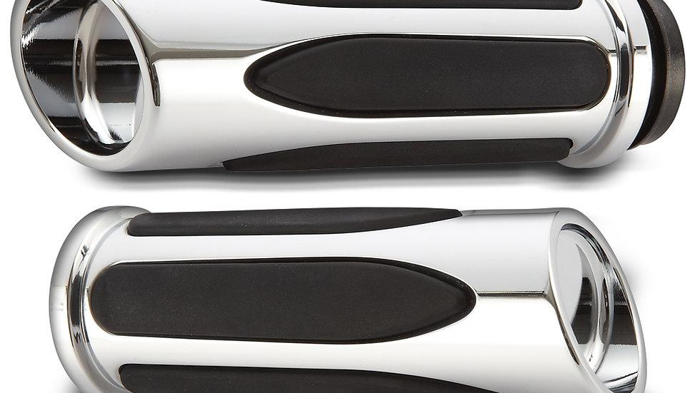 Arlen Ness Deep Cut Comfort Series Grips - Chrome