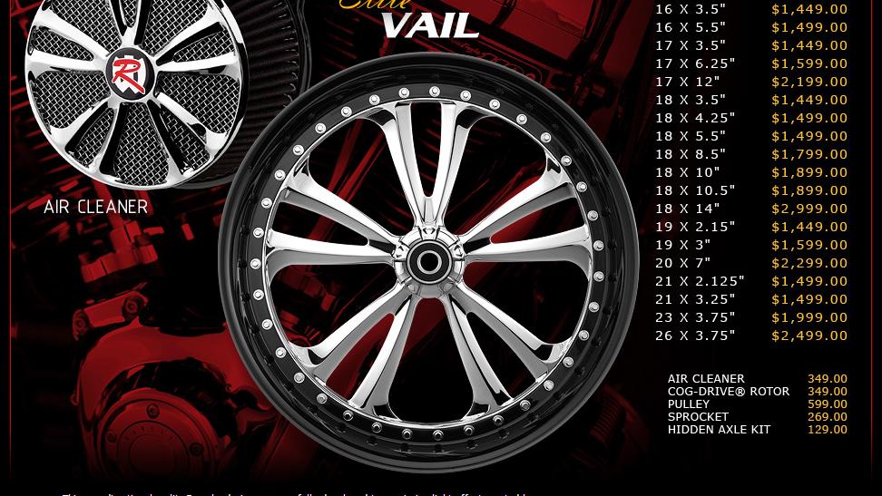 Renegade Vail Elite for Touring Models