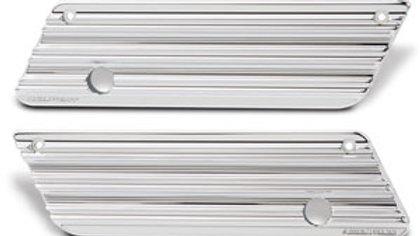 10-Gauge Saddlebag Latch Cover - Chrome