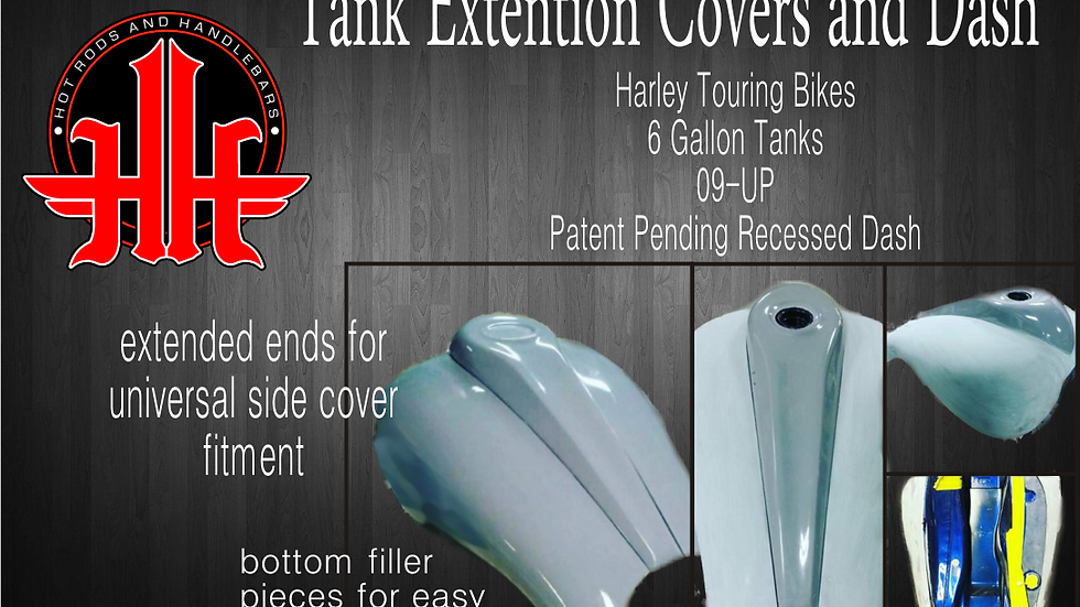 HH Stretched Gas Tank Shrouds 09-up 6 Gallon