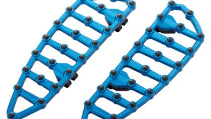 Ness MX Billet Floorboards - Blue