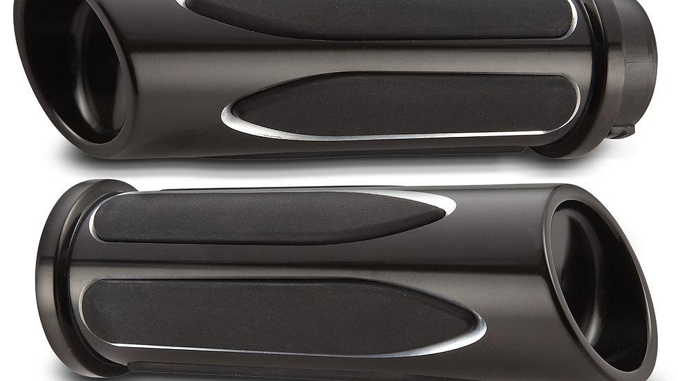 Arlen Ness Deep Cut Comfort Series Grips - Black
