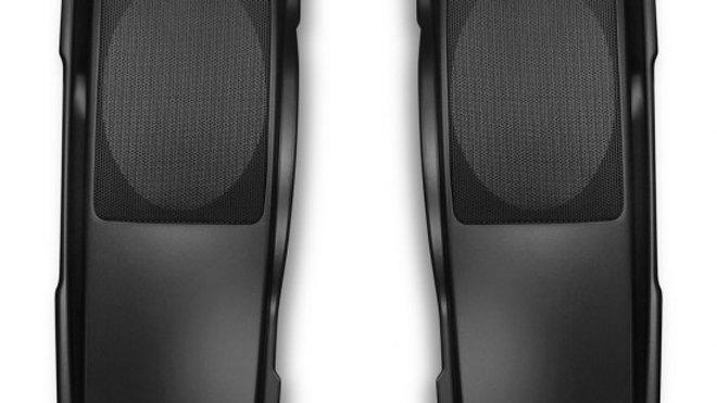 Single Up Saddlebag Speaker Lids for Harley 93'-13