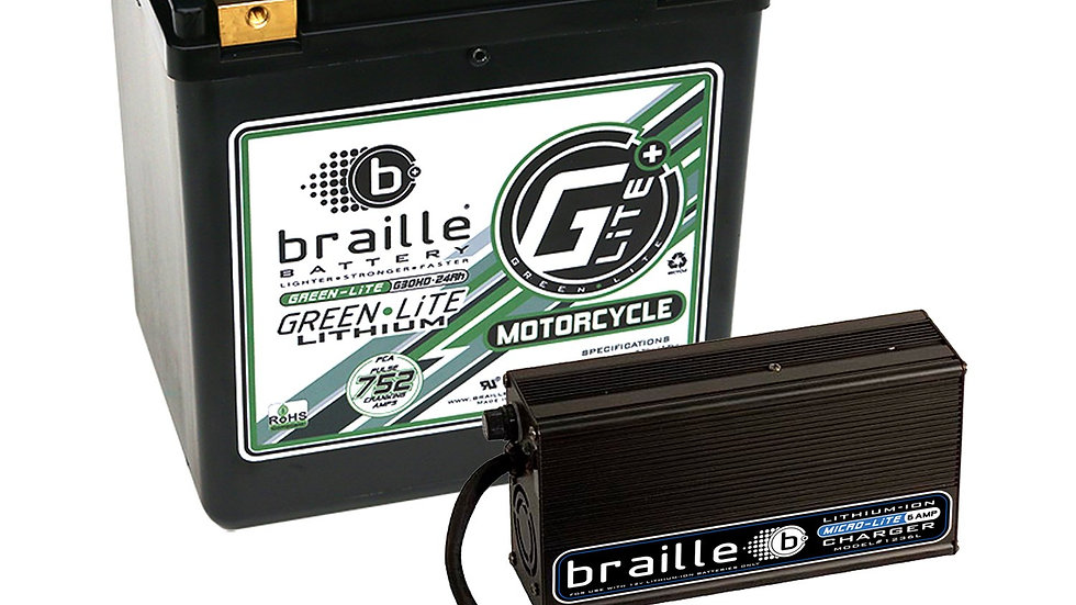 G30HC - GreenLite (Harley/Motorcycle Spec) Lithium Battery