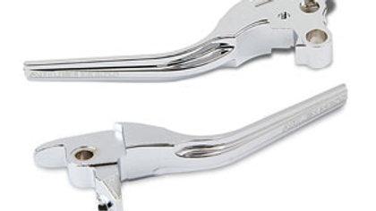 Forged Billet Hand Lever Set - Cable - 08 -16 FL - Chrome