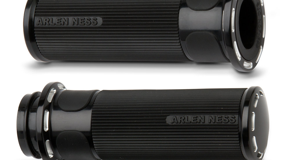 Arlen Ness Slot Track Fusion Grips - Black