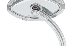 Beveled Cat Eye Forged Billet Mirror - Short Stem Chrome