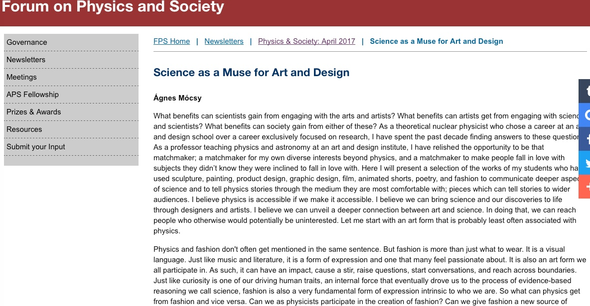 Science the Muse for Art