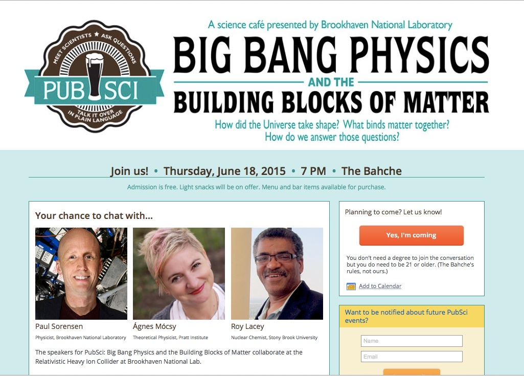 PubSci: Big Bang Physics