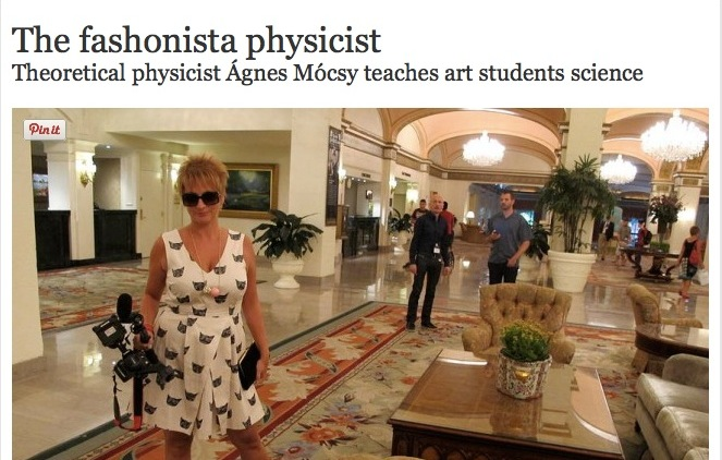The fashionista physicist