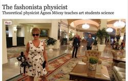 The fashionista physicist