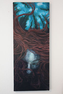 I DREAMT OF DROWNING (ACRYLIC PAINTING)