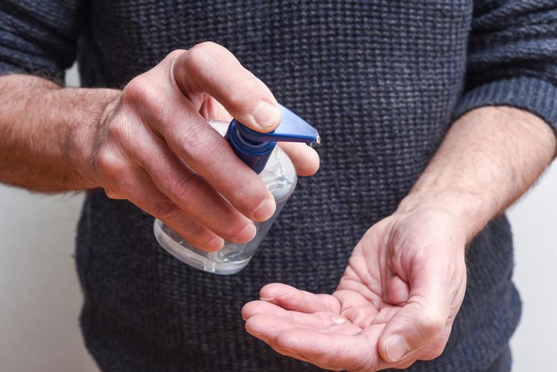hand sanitizer using