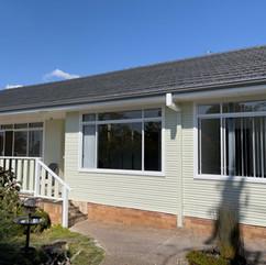Painting of home and aluminium windows