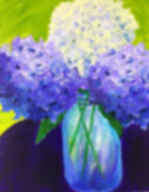 Hydrangea in Mason Jar.jpg