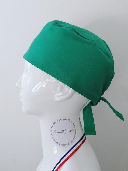 Calot Uni Vert Menthe | Le calot Français | Fabriqué en France