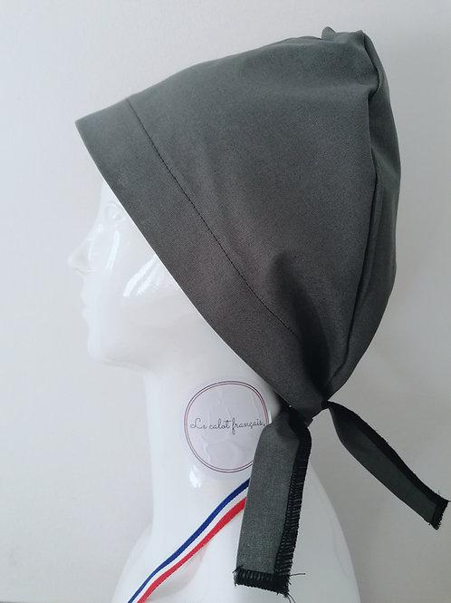 Calot Uni Gris | Le Calot Français | Fabriqué En France