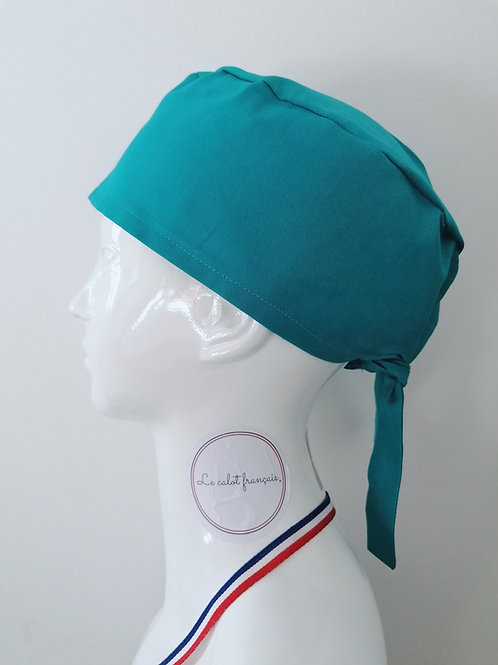 Calot Uni Turquoise | Le Calot Français | Fabriqué en France